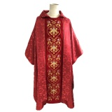 Red Jacquard Chasuble